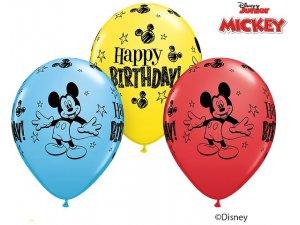 "11"" Balónek Qualatex MICKEY MOUSE BDAY  (25ks v balení)"