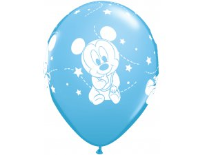 """12"""" Balónky Qualatex Disney Baby Mickey Stars (6ks v balení)"""