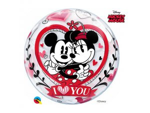 "22"" bublina - DN MICKEY & MINNIE I LOVE YOU"