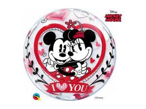 "22"" bublina - DN MICKEY & MINNIE I LOVE YOU"