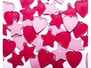 Závaží na balónky Qualatex 8g Růžové tvary