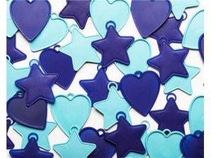 Závaží na balónky Qualatex 8g Modré tvary