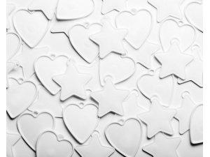 Závaží na balónky Qualatex 8g Bílé tvary