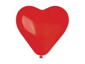 Balónek srdce 25 cm #045 červený (100ks/bal)