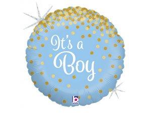 """18"""" Třpytivé Its a Boy"""