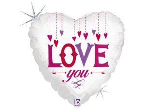 """18"""" Láska - Visící srdce"""