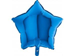 Balónek fóliová hvězda modrá 45 cm SP