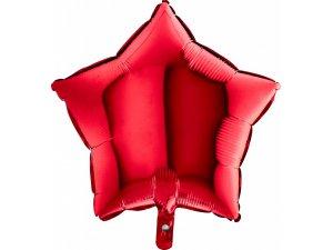 Balónek fóliová hvězda červená 45 cm SP