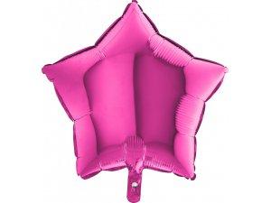 Balónek fóliová hvězda fuchsie 45 cm SP