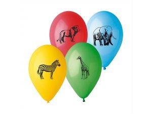 "Balónek potisk SAFARI (26cm/10"") pastel (100ks/bal)"