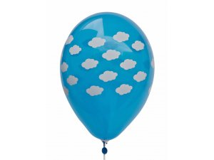 Balónek pastel 30 cm MRAKY potisk (100ks/bal)