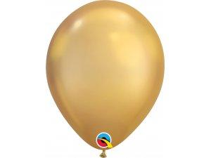 """Balónek Qualatex CHROME 11"""" zlatý"""