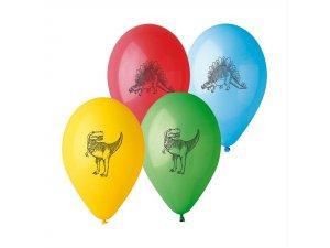 """Balónek potisk DINO (26cm/10"""") pastel (100ks/bal)"""