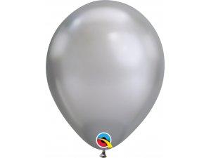 "Balónek Qualatex CHROME 11"" stříbrný"