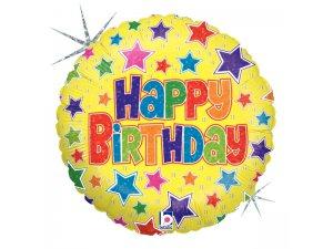 "36"" Kulatý Happy Birthday"