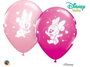 "Balónek Qualatex 11"" MICKEY MOUSE BABY HEARTS  (25ks v balení)"