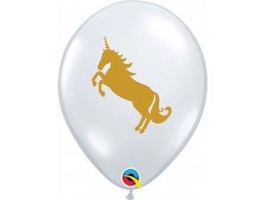 """Balónek Qualatex 11"""" - Jednorožec (25 ks/bal)"""