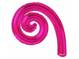 Kudrlina SPIRÁLA tmavě růžová 35cm