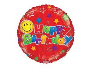 Kruh 45cm SMILE balónek červený