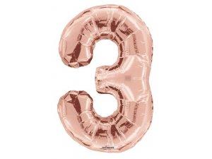 Číslice (86 cm) ROSE GOLD 3