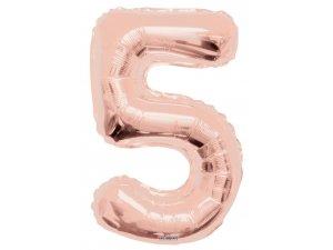 Číslice (86 cm) ROSE GOLD 5