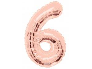 Číslice (86 cm) ROSE GOLD 6