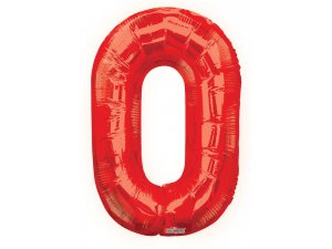 Číslice (86 cm) červená 0