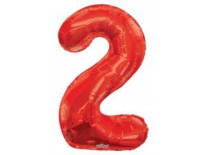 Číslice (86 cm) červená 2