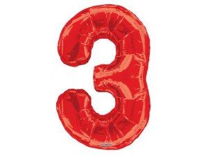 Číslice (86 cm) červená 3