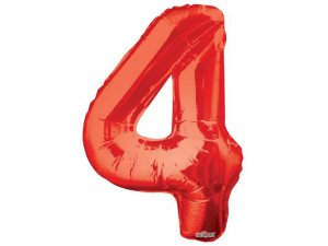 Číslice (86 cm) červená 4