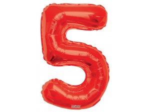 Číslice (86 cm) červená 5