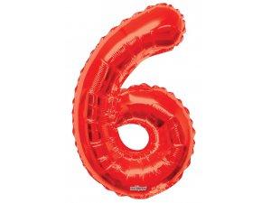 Číslice (86 cm) červená 6