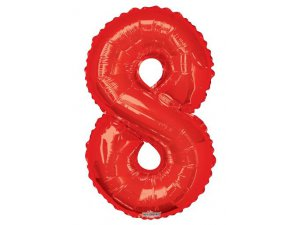 Číslice (86 cm) červená 8