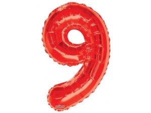Číslice (86 cm) červená 9