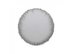 Kruh 46cm stříbrný fóliový balónek