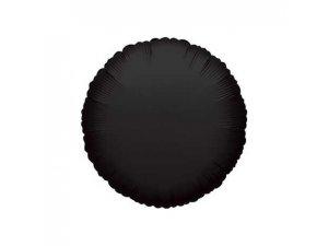 Kruh 46cm černý  fóliový balónek