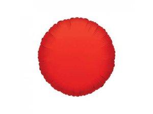 Kruh 46cm červený fóliový balónek