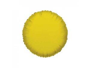 Kruh 46cm zlatý fóliový balónek