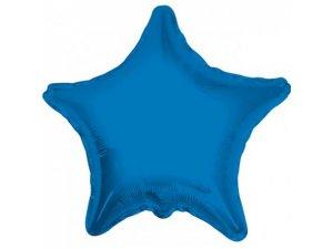 Hvězda 46cm modrá fóliový balónek