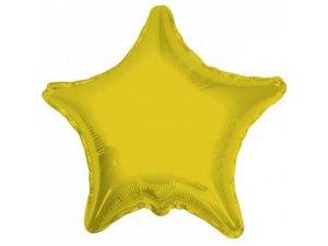 Hvězda 46cm zlatá fóliový balónek