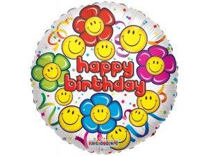 Kruh 45cm SMILEY narozeniny