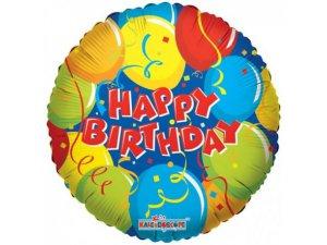 Kruh 46cm - HAPPY BIRTHDAY konfety