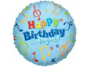 Kruh 46cm -  Hudba HAPPY BIRTHDAY TO YOU
