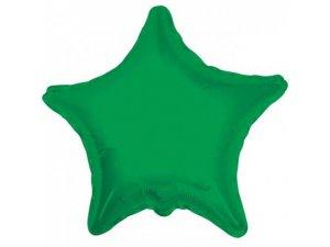 Hvězda 46cm - zelená fóliový balónek