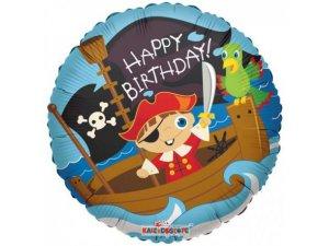 Kruh 46cm BIRTHDAY malý pirát
