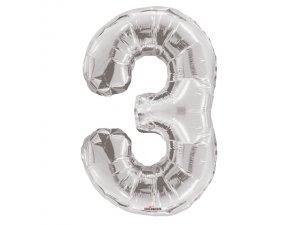 Číslice (86 cm) stříbrná 3