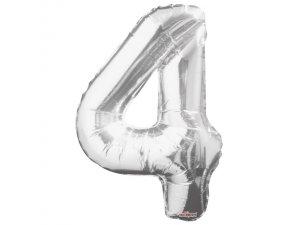 Číslice (86 cm) stříbrná 4