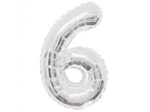Číslice (86 cm) stříbrná 6