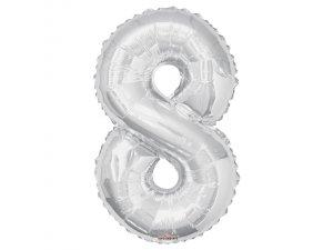 Číslice (86 cm) stříbrná 8