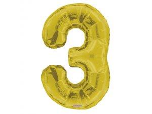 Číslice (86 cm) zlatá 3